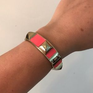 Jewelry - Pink & gold stud cuff bracelet